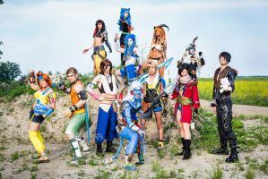 FFX Genderbend Group by Yukosplay