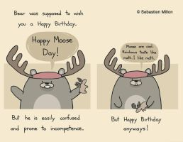 Happy Moose Day by sebreg