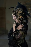 Stock - Black and gold Vampire Queen Faun Demon 8 by S-T-A-R-gazer