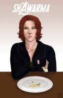 Black Widow- Shawarma by Tobiassilverstreak