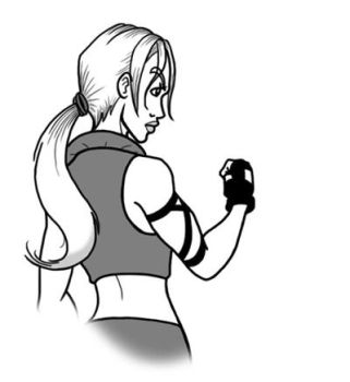 Sonya Blade practise sketch by Elf-Tea-Rose