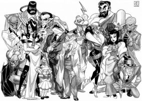 Batman Villains Line-up 2 by Adoradora