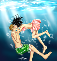 Underwater Kissu~ by babygpanda