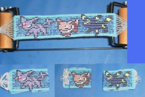 Eevee and Johto bracelet by Searaph