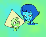 Lapis and Peridot by AlTheRipper