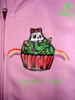 Toxic cupcake -hoodie front by corpitin
