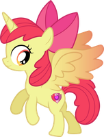 (request) alicorn Apple Bloom by CloudyGlow