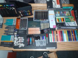 all of my art supplies by forever-broken92