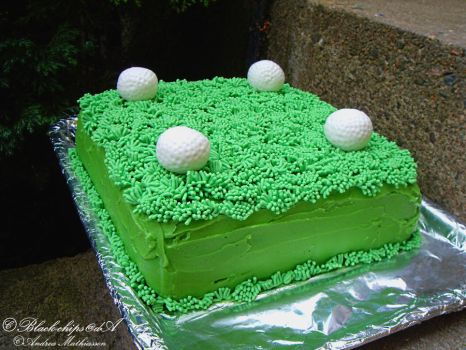 Golf cake by black-chips
