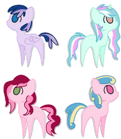 Pony Adopts 4 by MaddieAdopts