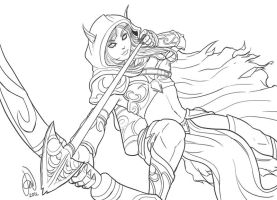 Sylvanas Windrunner of Warcraft III by alvinsanity