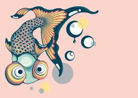 Celestial eyed goldfish by TheMbamoeVectory