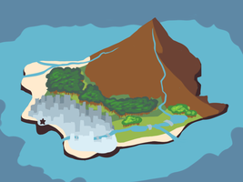 AEA - Bunshin Island Map by Dragoncookie
