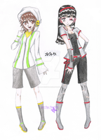 Mirror and Carri the Vocaloids by Musakcritiq