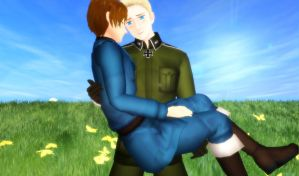 .: Holding Mein Love :. by EpiclyAwesomePrussia