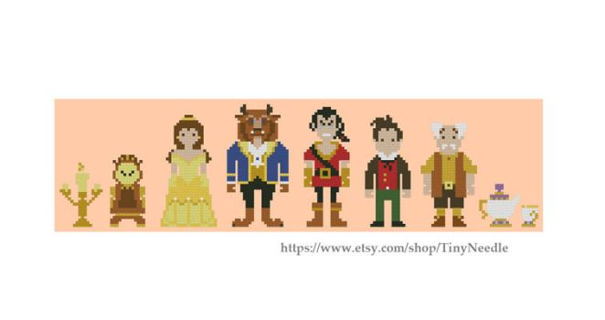 Beauty and the beast. Disney Cross stitch pattern by TinyNeedle
