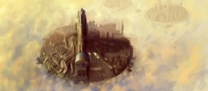 City in the sky by JavKiller