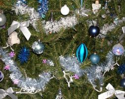 Blue Tree Ornaments 1 by dkimber
