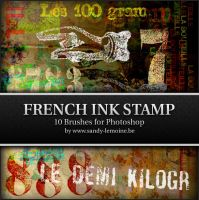French ink stamp Brush Set by Kezako