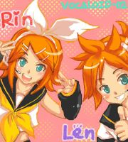 Rin and Len by Alphelia