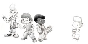 Lil Ghostbusters WIP by SDWalden