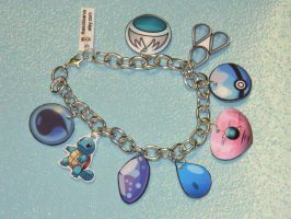 POKEMON CUSTOM Water Element charm bracelet by kouweechi