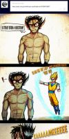 Lance vs Goku by Spaffi