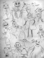 Nightmare Before X-mas Doodles by superahmazingnes