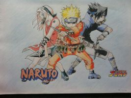 NARUTO squad 7 by orangeBLAZE002