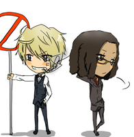 Request 2: Tom and Shizuo by artist-san