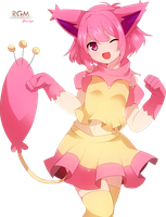 Pokemon Skitty Gijinka Render by Nezu-nyan