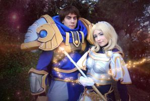 Lux y Garen - League of Legends by NunnallyLol