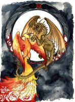 The Dragon and the Phoenix by Mariey