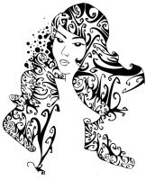 Curly Woman by Ivorydice