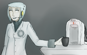 GLaDOS :Coffeebreak: by Super-Cute