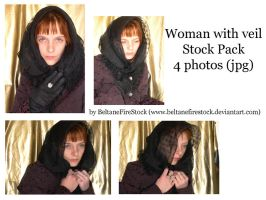 Stock_154: Woman with veil by BeltaneFireStock