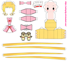 Hina Ichigo papercrafttemplate by niksqiky