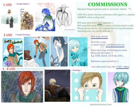 Commissions (please help) by JaeToh