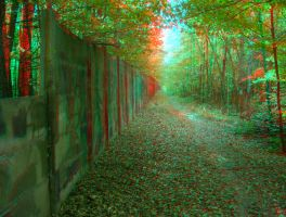The Wall 3D anaglyph by yellowishhaze