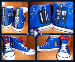 Doctor Who Shoes by SomeSkullio