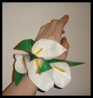 DuctTapeWhiteCallaLily Corsage by DuckTapeBandit