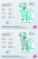 Lyra Heartstrings Color Guide by kefkafloyd