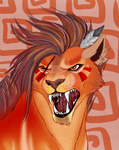 Red XIII_Commission by mysteriousharu