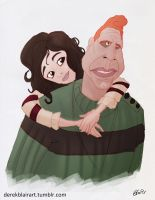Daily Warm-up: One and Miette by derekblairart