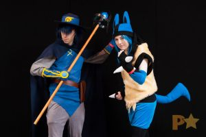 Sir Aaron and Lucario Cosplay Supanova Adelaide by DJBrowny