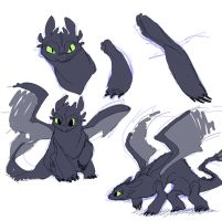 HTTYD - Toothless 2 by JigokuHana