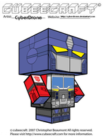 Cubeecraft - Optimus Prime 'Energon' by CyberDrone