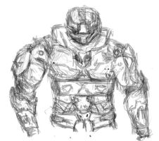 Halo Spartan sketch by Eternal--Waves