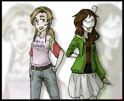 Genderbent Pewdie and Cry by Ninja-Neko-Aru