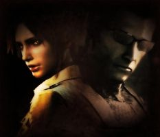 Wesker and Claire 3 by IamRinoaHeartilly